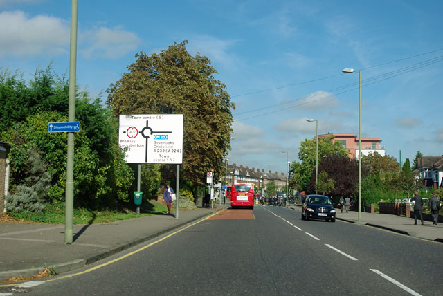 Approaching Orpington town centre