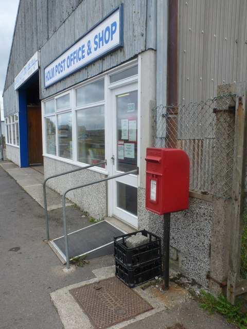 Holm: the post office and postbox № KW17 128