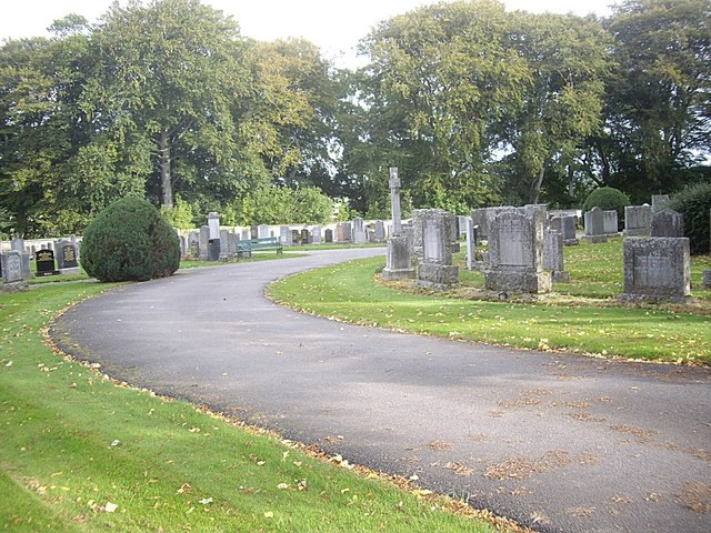 Pathway in Huntly Cemetery