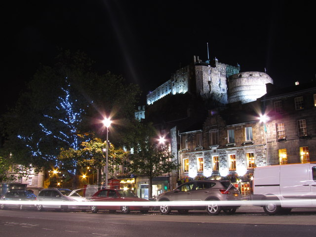 Grassmarket by night, Edinburgh