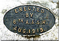 NS2573 : Plaque on the well on the Waterman's Road by Thomas Nugent