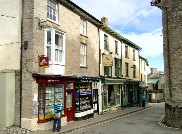 Victorian shops, Castle Street, Hay-on-Wye
