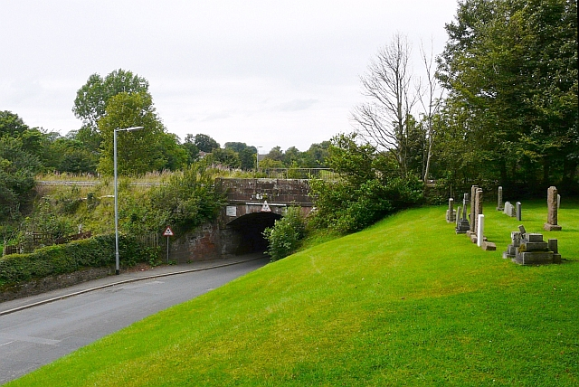 Railway bridge by Scotby churchyard