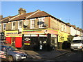 TQ3268 : Shops at junction of Thirsk Road and Whitehorse Lane, Thornton Heath by Christopher Hilton