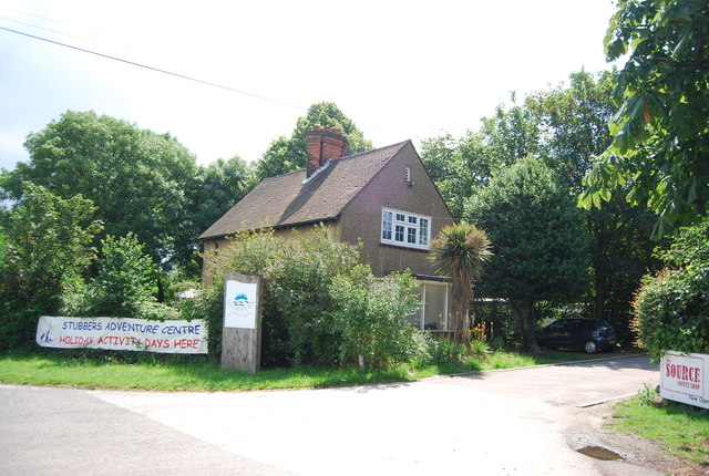 Entrance to Stubbers Adventure Centre