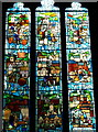 SK3871 : Stained glass window, Chesterfield parish church by Andrew Hill