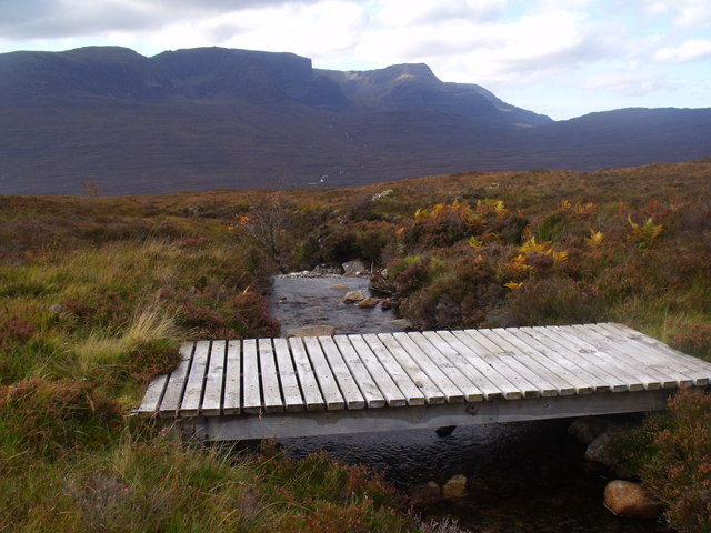 Bridge with a view on the Allt Mor near Kishorn