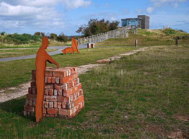 Bricks and sculptures, Castle Espie