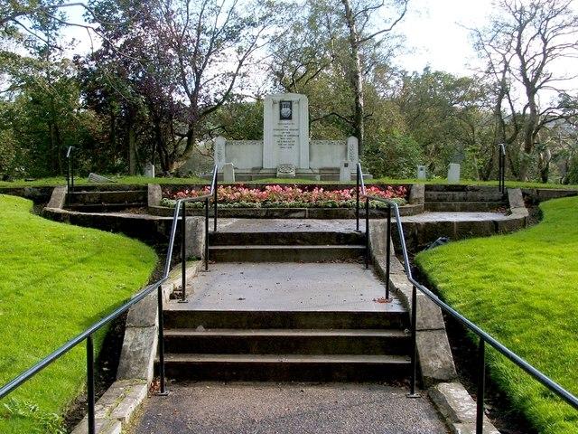 Memorial for those killed in the Greenock air raids