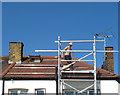 TQ2081 : Installation of solar PV panels - support bars by David Hawgood