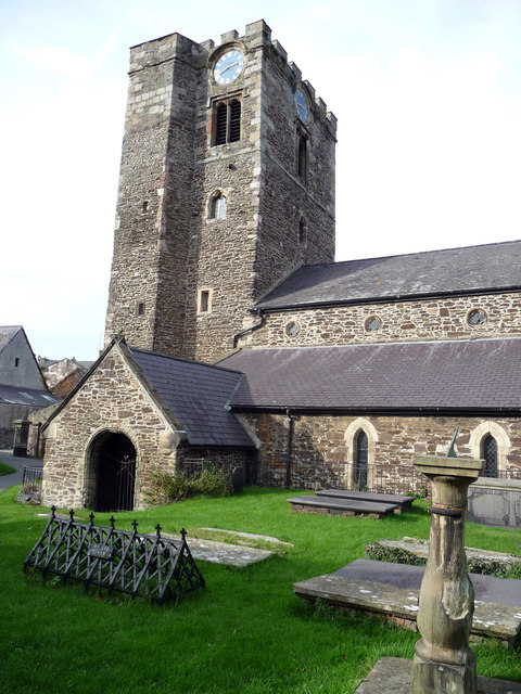 South side of the Church of St Mary and All Saints, Conwy