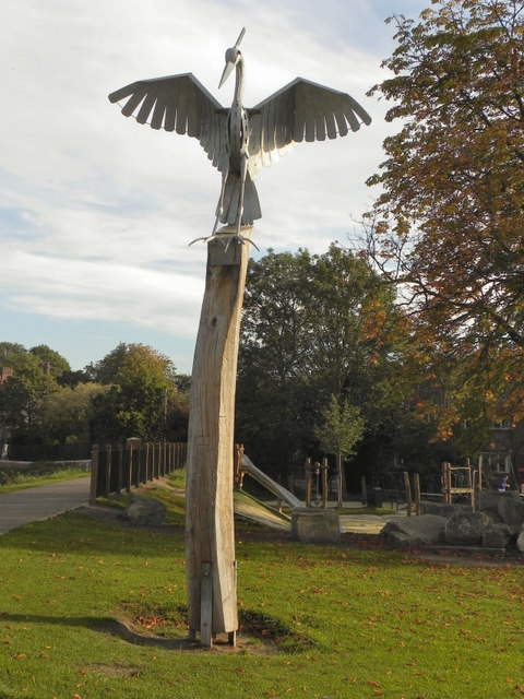 Heron Sculpture, Northernden Riverside Park