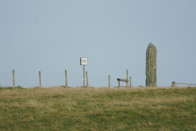 The standing stone at Clivocast