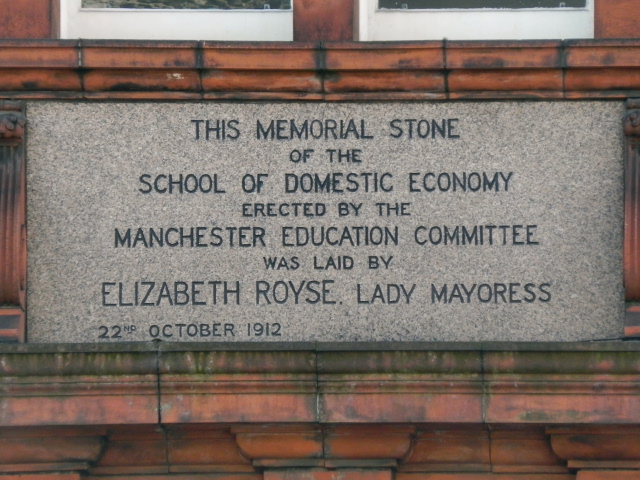 Elizabeth Gaskell Building (memorial stone)