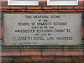 SJ8595 : Elizabeth Gaskell Building (memorial stone) by David Dixon