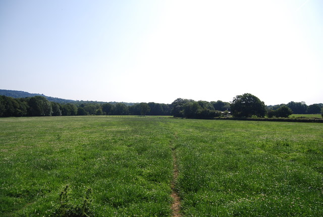 Footpath across a field