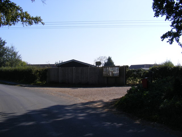 Woodbridge Road & Entrance to Hollesley Village Hall