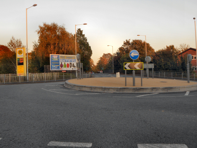 Morrisons' Roundabout, Cheadle Heath
