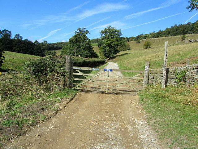 Bridleway at Calton Lees