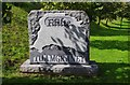 R6382 : Welcome to Tuamgraney stone on R463 road by P L Chadwick