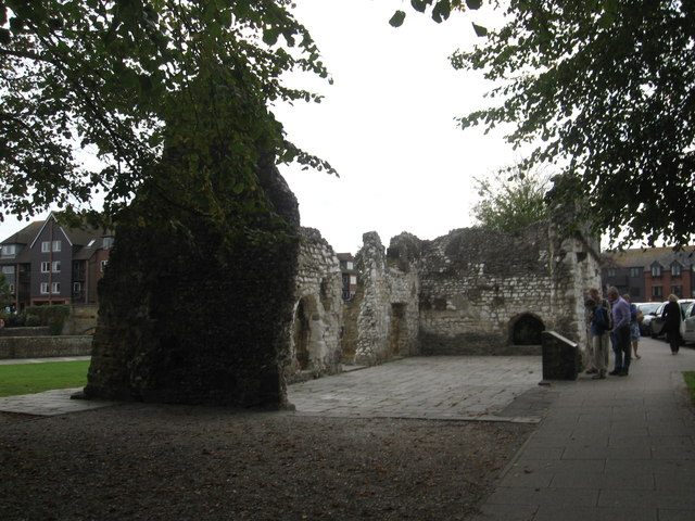The ruins of Black Friars Priory in Arundel, West Sussex