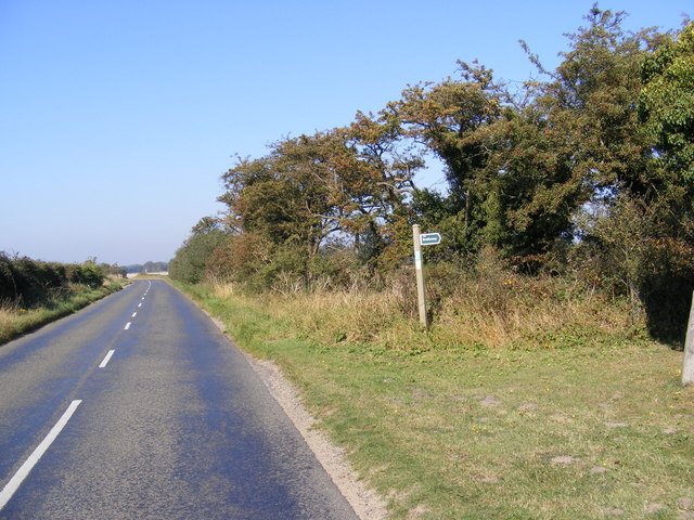 B1083 Woodbridge Road & the Bridleway to Lodge Road