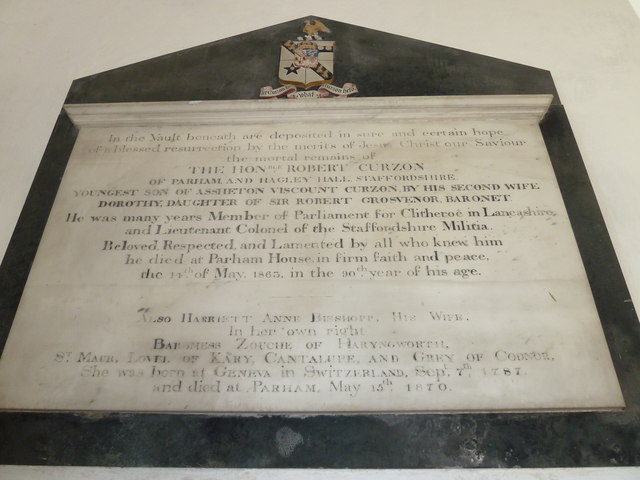 St. Peter, Parham: memorial (11)