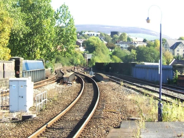 Stalybridge Station - Approach from Huddersfield End
