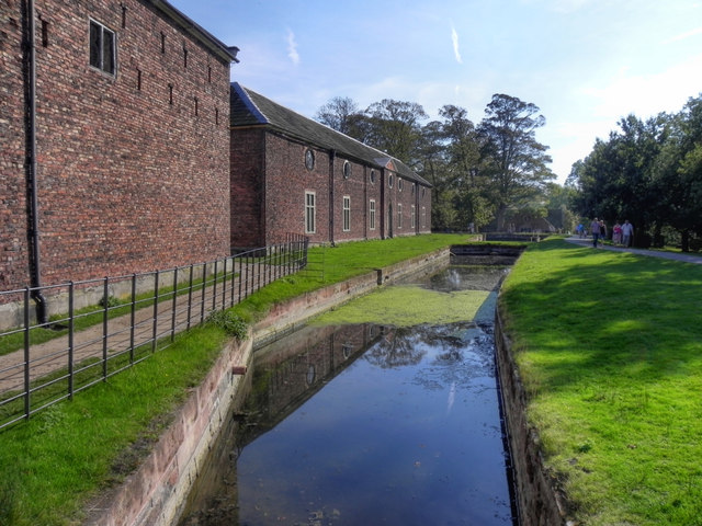 Dunham Massey Moat and Stable Block