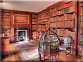 SJ7387 : The Library, Dunham Massey Hall by David Dixon