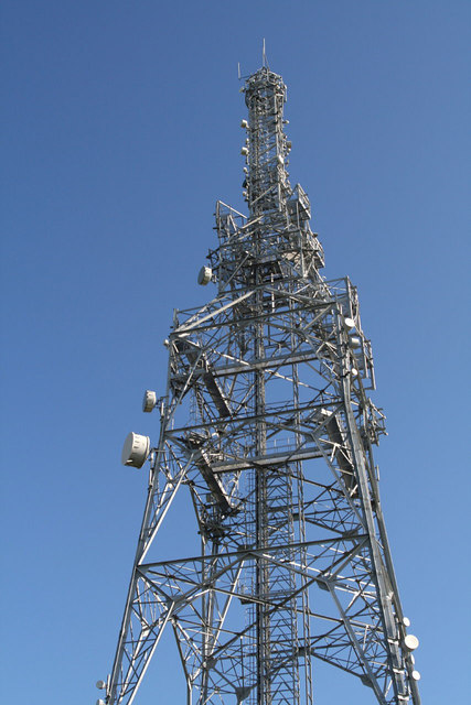 Transmitting tower near Over