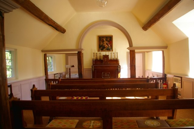 Georgian chapel at Harvington Hall