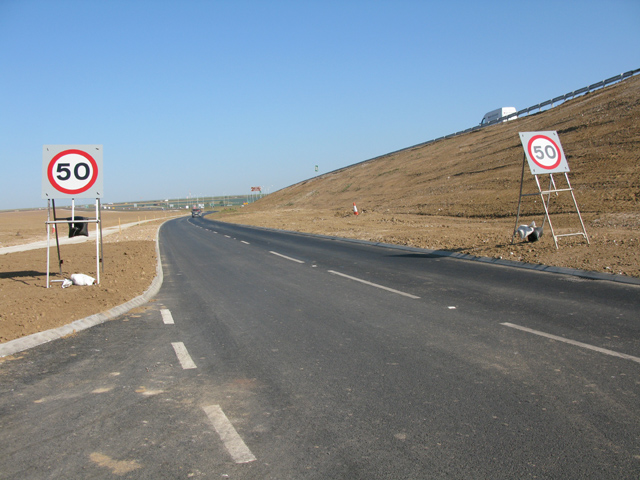 Slip road to the new East Kent Access phase 2 road