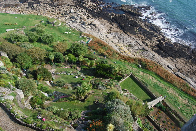 Gardens at the foot of St Michael's Mount castle