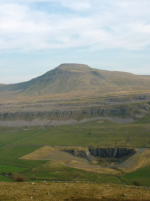 Ingleton Granite Quarry below Ingleborough