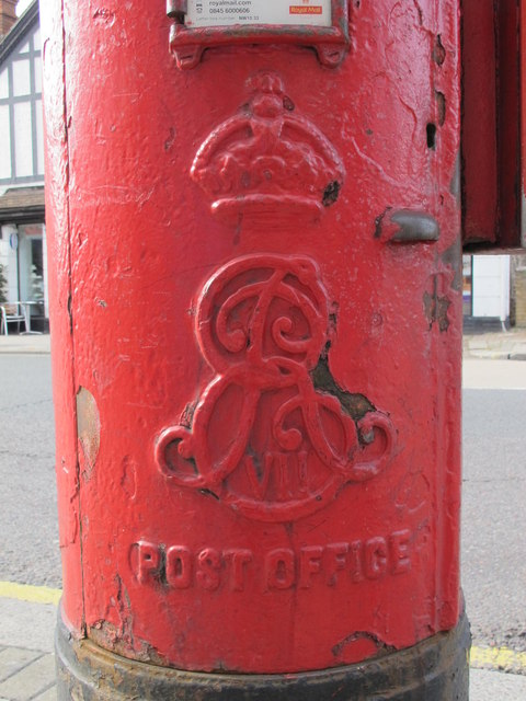Edward VII postbox, Harrow Road / Felixstowe Road, NW10 - royal cipher
