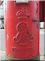 TQ2282 : Edward VII postbox, Harrow Road / Felixstowe Road, NW10 - royal cipher by Mike Quinn