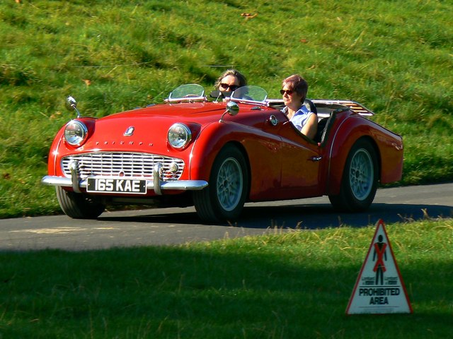 Red Triumph TR3A at 'Spirit of the 60s' 02 October 2011 Dyrham Park