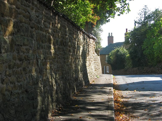 Scalford: the rectory wall