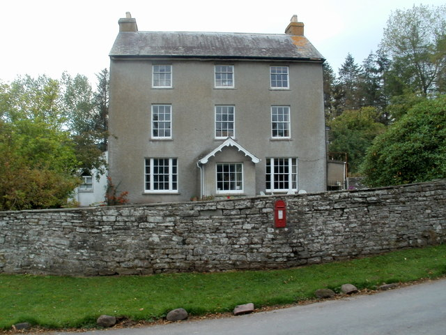 Cantref House west of Llanfrynach