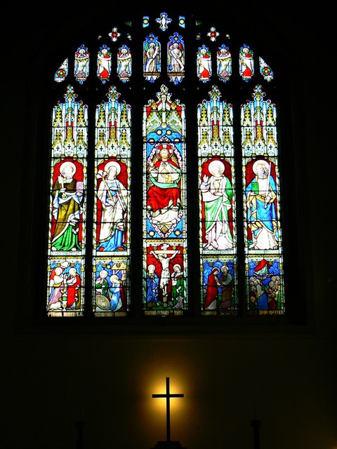 Stained glass window, St Mary's Church, Marlborough
