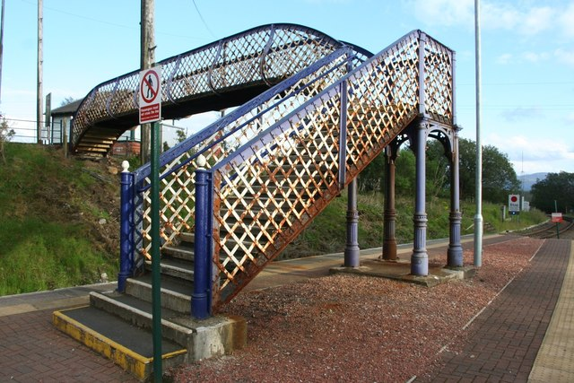 Bridge and Stairs at Rannoch Station