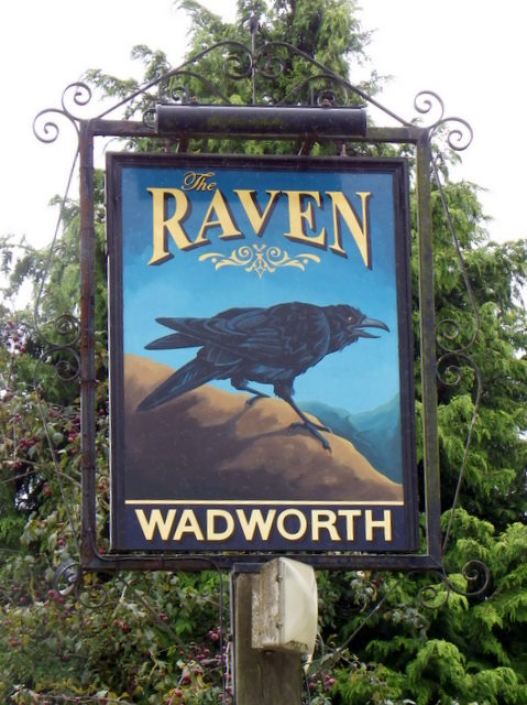 Sign for the Raven Inn