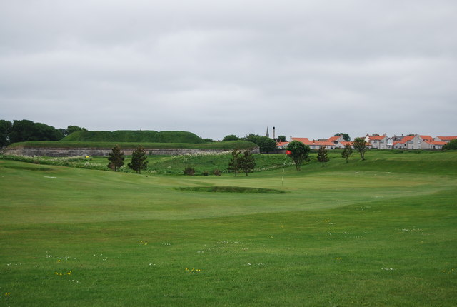 Ramparts across the golf course