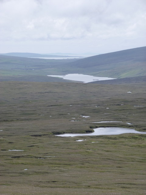 Herma Ness: a view down the length of Unst
