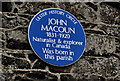 Photo of John Macoun blue plaque
