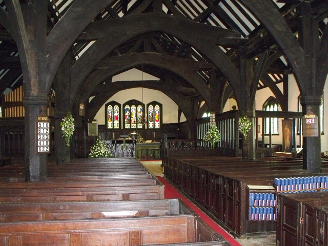 Interior of St. Oswald's, Lower Peover