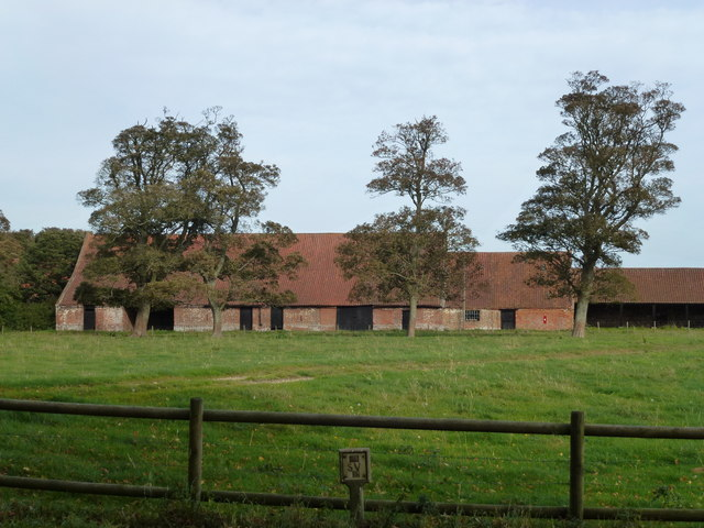 Large traditional Norfolk barn at Summerfield