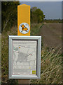 SK6835 : Permissive footpath sign by Alan Murray-Rust
