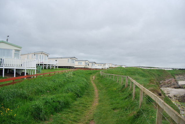 Berwick Coast path, Berwick Holiday Centre